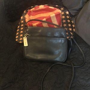 Giani Bernini small navy handbag